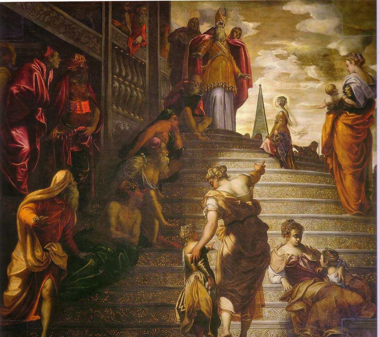 Jacopo Robusti dit le Tintoret La Présentation de la Vierge au Temple, 1552-1553 Église Madonna dell'Orto, Venise